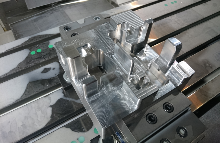 CNC production of the assembly nest