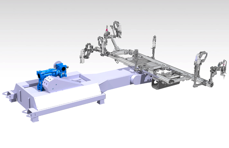 CAD visualization with the robotic gripper
